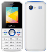 servo v8240 white single core camera dual sim vibration english keyboard cell phone 2g