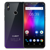 "cubot p20 4gb 64gb twilight black octa core 16mp fingerprint 6.18"" android 8.0 smartphone"