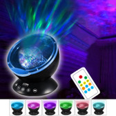 Hypnosis Ocean Wave Projector black Led 7 Light Modes Remote Control Usb Audio Input