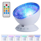 Hypnosis Ocean Wave Projector white Led 7 Light Modes Remote Control Usb Audio Input