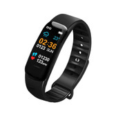 c1s ip67 black waterproof heart rate blood pressure call remind remote smart bracelet