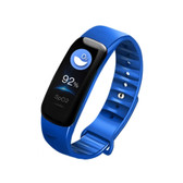 c1s ip67 blue waterproof heart rate blood pressure call remind remote smart bracelet