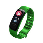 c1s ip67 green waterproof heart rate blood pressure call remind remote smart bracelet