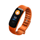 c1s ip67 orange waterproof heart rate blood pressure call remind remote smart bracelet