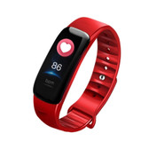 c1s ip67 red waterproof heart rate blood pressure call remind remote smart bracelet