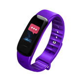c1s ip67 purple waterproof heart rate blood pressure call remind remote smart bracelet
