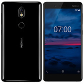 "nokia 7 4gb 64gb black octa core 16mp fingerprint id 5.2"" android lte smartphone"