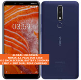 "nokia 3.1 plus 3gb 32gb blue octa core 13mp hdr fingerprint 6.0"" android 9.0 smartphone"