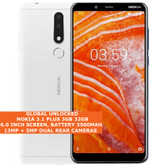 "nokia 3.1 plus 3gb 32gb white octa core 13mp hdr fingerprint 6.0"" android 9.0 smartphone"
