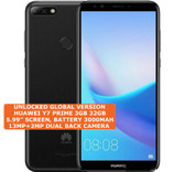 huawei y7 prime 3gb 32gb black octa core 13mp fingerprint id dual sim android smartphone