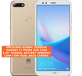 huawei y7 prime 3gb 32gb gold octa core 13mp fingerprint id dual sim android smartphone