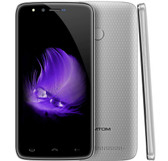 "homtom ht50 3gb 32gb silver quad core 8mp fingerprint id 5.5"" android 7.0 smartphone"