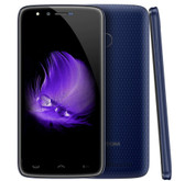 "homtom ht50 3gb 32gb blue quad core 8mp fingerprint id 5.5"" android 7.0 smartphone"