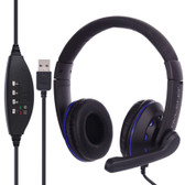 ovleng q5 mic volume blue control key computer plug usb  extra boss stereo headset