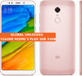 xiaomi redmi 5 plus 3gb 32gb rose gold octa core 12mp fingerprint id android smartphone 4g