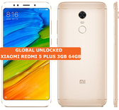 xiaomi redmi 5 plus 3gb 64gb gold octa core 12mp fingerprint id android smartphone 4g