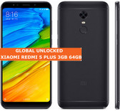 xiaomi redmi 5 plus 3gb 64gb black octa core 12mp fingerprint id android smartphone 4g