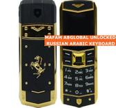 mafam a8 english arabic keyboard black dual sim bluetooth luxury metal mobile phone