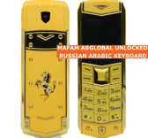 mafam a8 english arabic keyboard gold dual sim bluetooth luxury metal mobile phone