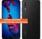 huawei p20 eml-l29 4gb 64gb black octa core 20mp face id 5.8 android smartphone