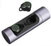 x8 tws bluetooth silver ipx6 waterproof touch control hifi wireless earphones