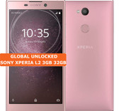 "sony xperia l2 3gb 32gb pink quad core 13mp fingerprint 5.5"" android smartphone"