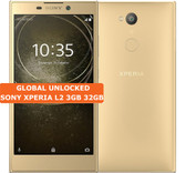 "sony xperia l2 3gb 32gb gold quad core 13mp fingerprint 5.5"" android smartphone"