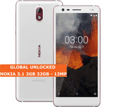 "nokia 3.1 3gb 32gb white octa core 5.2"" dual sim 13mp camera android smartphone"