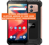 ulefone armor x2 2gb 16gb gold dust waterproof 8mp face id android smartphone