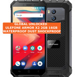 ulefone armor x2 2gb 16gb black dust waterproof 8mp face id android smartphone