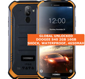 doogee s40 2gb 16gb orange waterproof shockproof 8mp face id android smartphone