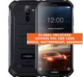 doogee s40 2gb 16gb black waterproof shockproof 8mp face id android smartphone
