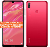 """huawei y7 3gb 32gb octa core red 13mp fingerprint 6.26"""" android lte smartphone"""