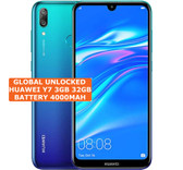 """huawei y7 3gb 32gb octa core blue 13mp fingerprint 6.26"""" android lte smartphone"""
