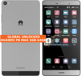 "huawei p8 max 3gb 64gb gray octa-core 13mp hdr dual sim 6.8"" android smartphone"