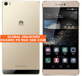 """huawei p8 max 3gb 32gb gold octa-core 13mp hdr dual sim 6.8"""" android smartphone"""