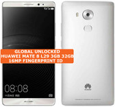 "huawei mate 8 nxt-l29 3gb 32gb white 16mp fingerprint 6.0"" android smartphone Lte"
