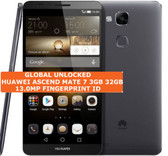 huawei ascend mate 7 3gb 32gb black octacore 13mp fingerprint android smartphone