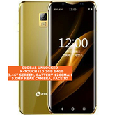 k-touch i10 3gb 64gb quad core gold 5.0mp face unlock android 8.0 smartphone 4g