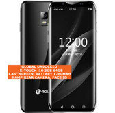 k-touch i10 3gb 64gb black quad core 5.0mp face unlock android 8.0 smartphone 4g