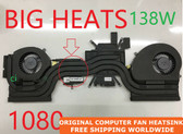 dell alienware 17 r4 alw17c(r4) 1080 0k2pkv 04rfw1 big heats cooler fan with heatsink