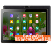 "tablet pc 3g 4gb 32gb black quad core 5.0 mp camera 10.1"" dual sim android 7 gps"