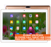 "tablet pc 3g 4gb 32gb gold quad core 5.0 mp camera 10.1"" dual sim android 7 gps"