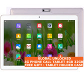 "tablet pc 3g 4gb 32gb white quad core 5.0 mp camera 10.1"" dual sim android 7 gps"