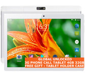 "3g phone call tablet pc 4gb 32gb silver quad core dualsim 5.0mp 10"" wifi android"
