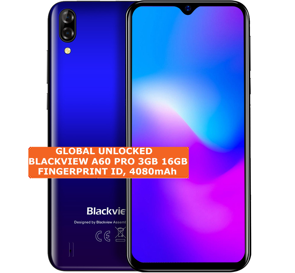blackview a60 pro 3gb 16gb blue quad core 8mp face id 6 88