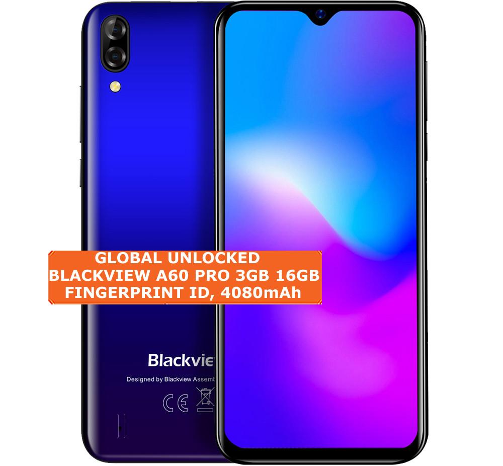 blackview a60 pro 3gb 16gb blue quad core 8mp face id 6 88