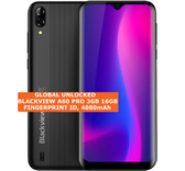 "blackview a60 pro 3gb 16gb black quad core 8mp face id 6.88"" android smartphone"