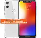 "moto p30 play 4gb 64gb white octa core 13mp fingerprint 5.86"" android smartphone"