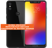 "moto p30 play 4gb 64gb black octa core 13mp fingerprint 5.86"" android smartphone"